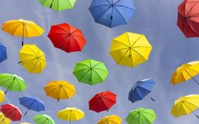 Wallpaper France, umbrellas, The Hautes-Alpes