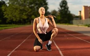 Picture girl, pose, sport, treadmill, Ilya Pistols, Elena Veyron