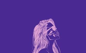 Picture Girl, Purple, Scull