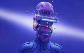 Picture Color, Glasses, Style, Face, Destruction, Fantasy, Details, Style, Color, Fiction, Fiction, Illustration, Sci-Fi, Cyberpunk, Science …