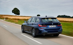 Picture movement, BMW, 3-series, universal, dark blue, 3P, 2020, G21, 330d xDrive Touring