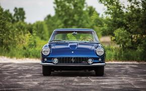 Picture Ferrari, Blue, Old, Vehicle, Ferrari 400 Superamerica