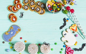 Picture background, cookies, Holiday, cakes, caramel, Lollipops