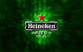Picture background, green, star, beer, logo, green, logo, star, heineken, fon, beer, Heineken