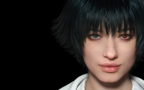 Picture focus, face, Lady, devil may cry 5, dmc 5