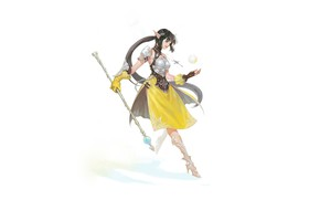 Picture Girl, Style, Fiction, Illustration, Minimalism, Dress, Armor, Character, Staff, NESSI