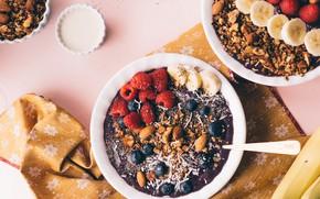 Picture blueberry, bowl, acai