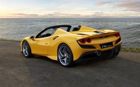 Picture water, lights, Ferrari, sports car, drives, Spider, Ferrari F8