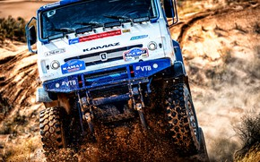 Picture Sand, Sport, Machine, Speed, Truck, Race, Master, Dirt, Lights, Russia, Kamaz, Rally, KAMAZ-master, Rally, KAMAZ, …
