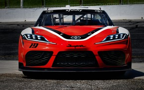 Picture racing car, Toyota, front view, Supra, 2019, Xfinity