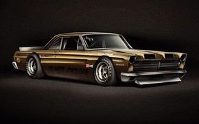 Picture Car, Art, Retro, Transport & Vehicles, WNVLD, Andreas Wennevold, by Andreas Wennevold, 1965 Mercury Comet …