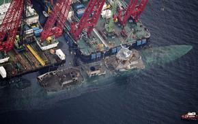 "Picture Sea, Crane, Boat, Frigate, Shipwreck, Norwegian Navy, The frigates of the ""Fridtjof Nansen"", Helge Ingstad …"