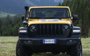 Picture yellow, SUV, front view, 4x4, Jeep, Mopar, 2019, Wrangler Rubicon 1941