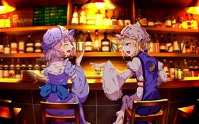 Picture girls, bar, Touhou, Touhou, Touhou