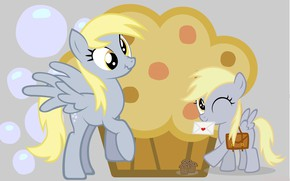 Picture pony, the envelope, cupcake, My Little Pony, horses