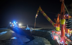 Picture Sea, Ship, The ship, Tanker, Platform, Приразломная