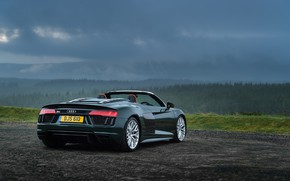 Picture Audi R8, rear view, Spyder, V10, More, 2017