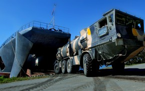 Picture ship, large, exercises, landing, Oslyabya, complex Redut