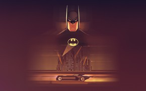 Picture logo, Batman, yellow, artwork