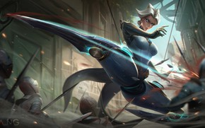 Picture Girl, Style, Girl, Fantasy, Art, Art, Style, Fiction, Fiction, League of Legends, LoL, Camille, Swords, …