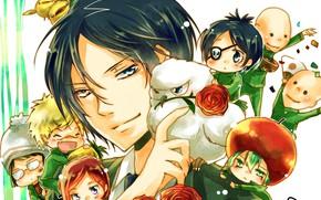 Picture roses, bouquet, Rakudo Mukuro, Katekyo Hitman reborn, Teacher mafia Reborn