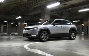 Picture photo, Mazda, Car, Crossover, Silver, 2020, Worldwide, MX-30