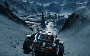 Picture mountains, the city, the game, game, Star Citizen, screenshot, space simulator, Computer game