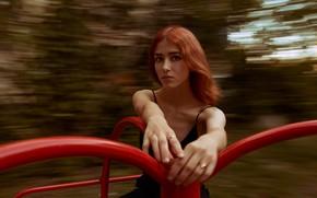 Picture girl, speed, carousel, Vyacheslav Pavlovskiy