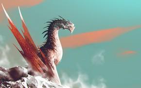 Picture Dragon, Monster, Lizard, Fantasy, Dragon, Art, Fiction, Dark Souls, Omar Bronze, by Omer Tunc, Omer …