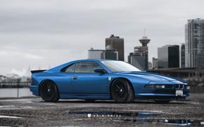 Picture Auto, Blue, The city, BMW, Machine, City, Car, Car, BMW 8 Series, Rain Prisk, by …