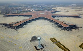 Picture Airport, WFP, Terminal, Daxing, International airport Beijing Daxing, The control tower, Jet bridge, Beijing Daxing …