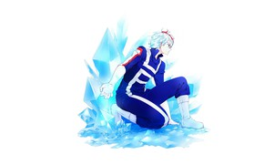 Picture pose, ice, guy, My hero Academy, Todoroki Shouto, My Hero Academia, Boku No Hero Academy, …