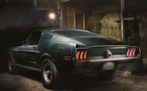Picture Ford, Fastback, 1968, Mustang GT, Bullitt