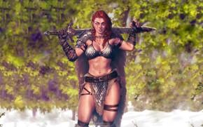 Picture Girl, Sword, Red Sonja, Red Sonja, Sword, Krystopher Decker, Кристофер Деккер
