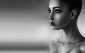 Wallpaper Girl, Figure, Lips, Face, Eyes, Art, Beautiful, Omar Bronze, by Omer Tunc, Omer Then