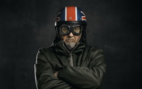 Picture people, portrait, helmet