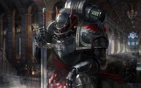 Picture Armor, Sword, Temple, Fantasy, Dark Angel, Armor, Art, Art, Knight, Fiction, Ahn hyoungsup