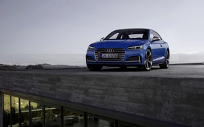 Picture roof, blue, Audi, coupe, Audi A5, Coupe, Audi S5, 2019