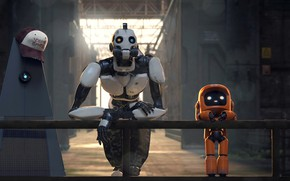 Picture cartoon, cartoon, robots, Robots, Love Death & Robots, Love, death and robots