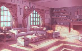 Picture Sofa, Light, Room, Windows, Things, Art, Wall, Style, Lighting, Illustration, Room, Books, Window, Living Room, …