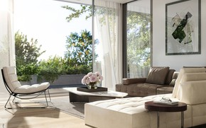Picture flowers, furniture, glasses, the room, Aspen Malvern East
