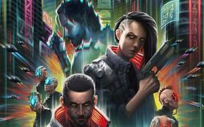 Picture game, CD Project RED, art, Cyberpunk, 2077, Cyberpunk 2077