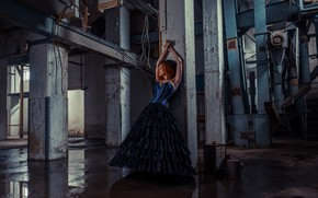 Picture girl, the building, dress, Danyel Weideman
