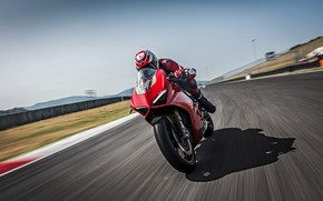 Picture Speed, Lights, Track, Ducati, 2018, Panigale, Sportbike, V4 S, Ducati Panigale V4 S