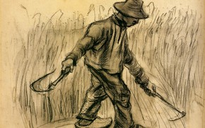 Picture hammer, Vincent van Gogh, Reaper, working in the hat