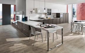 Picture design, style, interior, kitchen, dining room, Padova