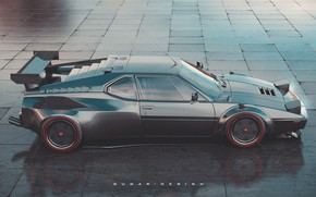 Picture Auto, BMW, Machine, Car, Render, Supercar, Rendering, Sports car, Side view, BMW M1, Transport & …