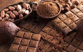Picture chocolate, sweet, chocolate, sweet, cocoa, beans
