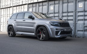 Picture machine, tuning, grey, side, bumper, tuning, wheel, containers, Matt, SRT, Jeep, Jeep Grand Cherokee, Renegade, …