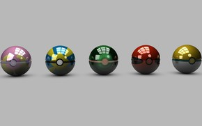 Picture grey, background, balls